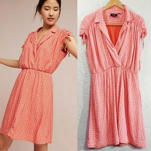 NWT Anthro Maeve Carlotta ruched shirt dress